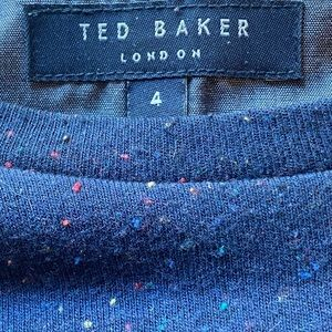 EUC Ted Baker Navy Speckled Colors Pullover sz 4/L
